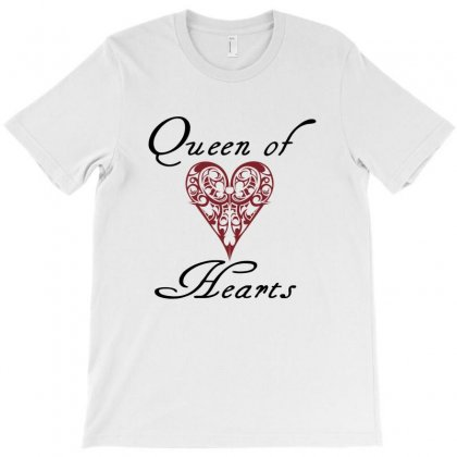 Hearts Queen Of Hearts T-shirt Designed By Wisnuta1979