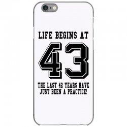 9917afb49fe Custom 43rd Birthday Life Begins At 43 T-shirt By Killakam - Artistshot