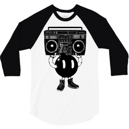 Boom Box 3/4 Sleeve Shirt Designed By Sbm052017