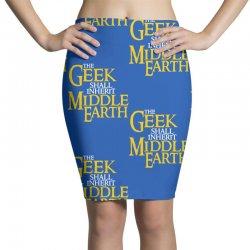 geek shall inherit middle earth Pencil Skirts   Artistshot