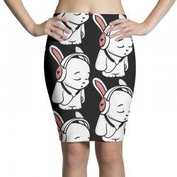 love music cartoon bunny Pencil Skirts | Artistshot