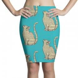 cats text Pencil Skirts | Artistshot