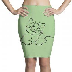 the cat simple Pencil Skirts | Artistshot
