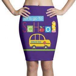 Let's go to school Pencil Skirts | Artistshot