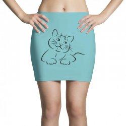the cat simple Mini Skirts | Artistshot