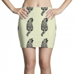 cats black Mini Skirts   Artistshot