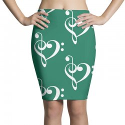 music heart rock baseball Pencil Skirts | Artistshot
