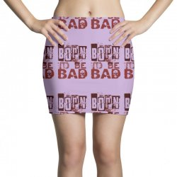 funny mens t shirt born to be bad Mini Skirts   Artistshot