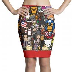 Monkey Pencil Skirts | Artistshot