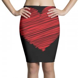 Heart Pencil Skirts | Artistshot