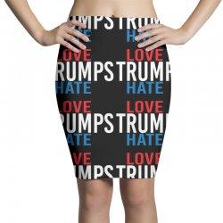 LOVE TRUMPS HATE Pencil Skirts | Artistshot