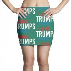 LOVE TRUMPS HATE Mini Skirts | Artistshot