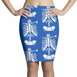 funny bone skeleton Pencil Skirts | Artistshot