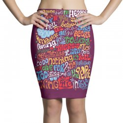 funny john lennon imagine quote Pencil Skirts | Artistshot