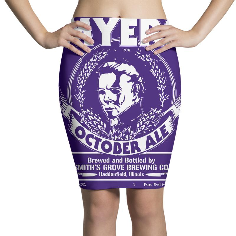4d39a5dbe Custom Myers October Ale Pencil Skirts By Deomatis9888 - Artistshot