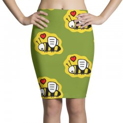 love bee lover valentine Pencil Skirts | Artistshot
