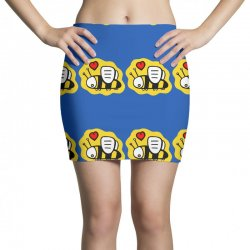 love bee lover valentine Mini Skirts | Artistshot