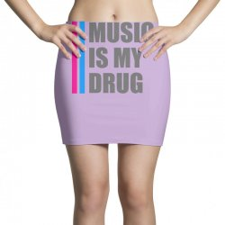 music is my drug Mini Skirts | Artistshot