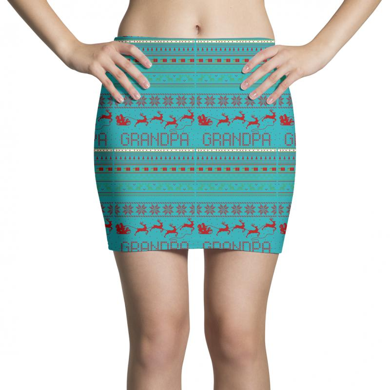 79d2e2425e994 Custom Grandpa Ugly Christmas Sweater Xmas Mini Skirts By Rardesign ...
