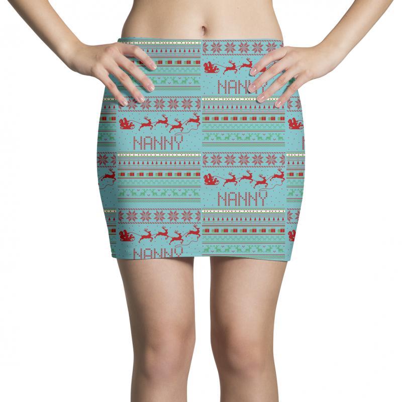 0fc1572310972 Custom Nanny Ugly Christmas Sweater Xmas Mini Skirts By Rardesign ...