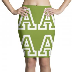 A Initial Name Pencil Skirts | Artistshot