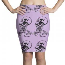 screaming skull Pencil Skirts | Artistshot