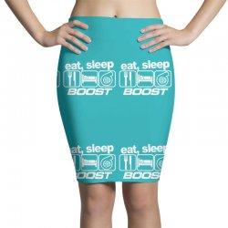 eat sleep boost Pencil Skirts | Artistshot