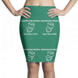 constipated people Pencil Skirts | Artistshot