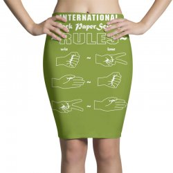 rock paper scissor international Pencil Skirts | Artistshot