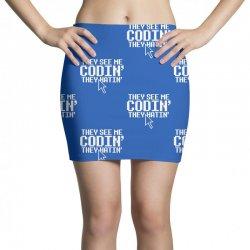 they see me codin' they hatin' Mini Skirts   Artistshot