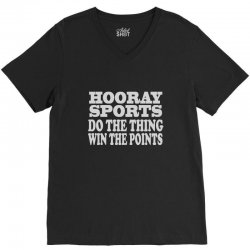 hooray sports win points V-Neck Tee | Artistshot