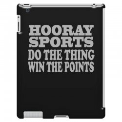hooray sports win points iPad 3 and 4 Case | Artistshot