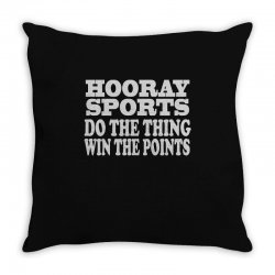 hooray sports win points Throw Pillow | Artistshot