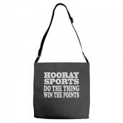 hooray sports win points Adjustable Strap Totes | Artistshot