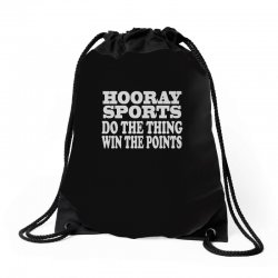 hooray sports win points Drawstring Bags | Artistshot