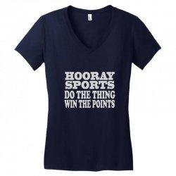 hooray sports win points Women's V-Neck T-Shirt   Artistshot