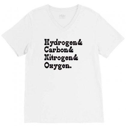 Hydrogen Carbon Nitrogen Oxygen V-neck Tee Designed By Wisnuta1979