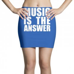 music is the answer printed Mini Skirts | Artistshot