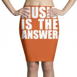 music is the answer printed Pencil Skirts | Artistshot