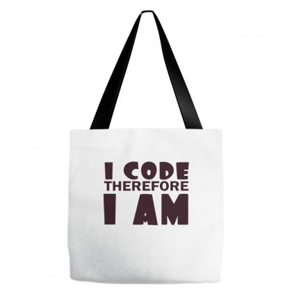 I Code Therefore I Am Tote Bags Designed By Wisnuta1979
