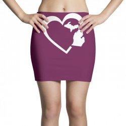michigan heart love Mini Skirts | Artistshot