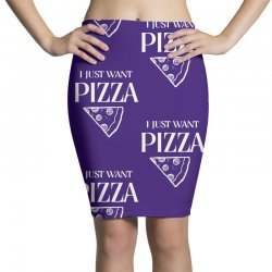 i just want pizza Pencil Skirts   Artistshot