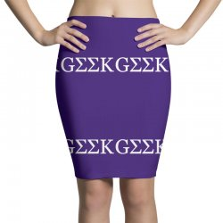 geek greek Pencil Skirts   Artistshot