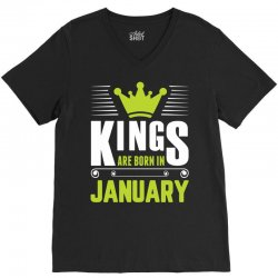 Kings Are Born In January V-Neck Tee | Artistshot