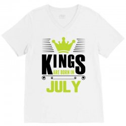 Kings Are Born In July V-Neck Tee | Artistshot