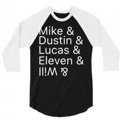 Mike & Dustin & Lucas & Will & 3/4 Sleeve Shirt | Artistshot