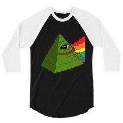 pepe the illuminati 3/4 Sleeve Shirt | Artistshot