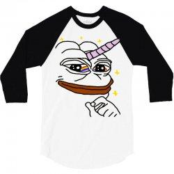 unicorn pepe the frog 3/4 Sleeve Shirt   Artistshot