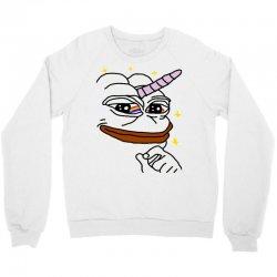 unicorn pepe the frog Crewneck Sweatshirt   Artistshot