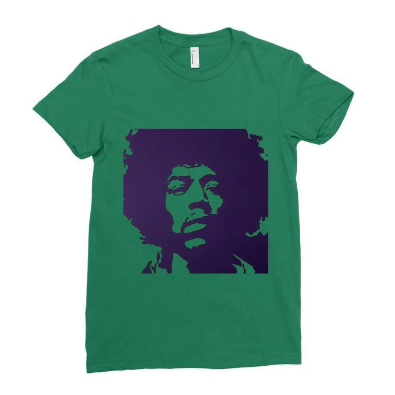 cdce29f2d81 Custom Jimi Hendrix Classic Ladies Fitted T-shirt By Mdk Art ...